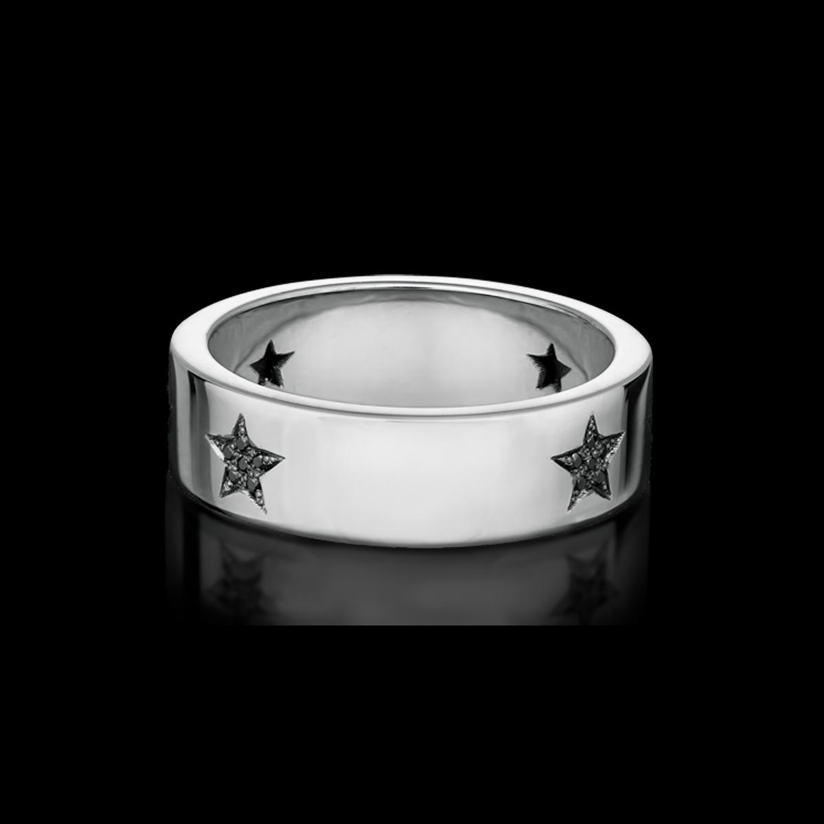 bague or blanc diamant etoile